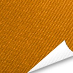Tissu sergé orange avec coin replié
