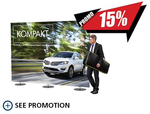 15% off the Kompakt banner stand